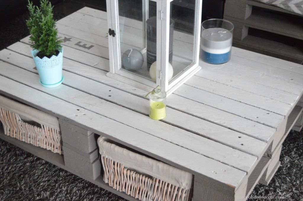Diy table basse palette bricolage pinterest table - Fabriquer table basse en palette ...