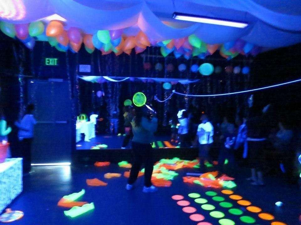 Black Light Neon Birthday Party Ideas Photo 1 Of 13 Neon