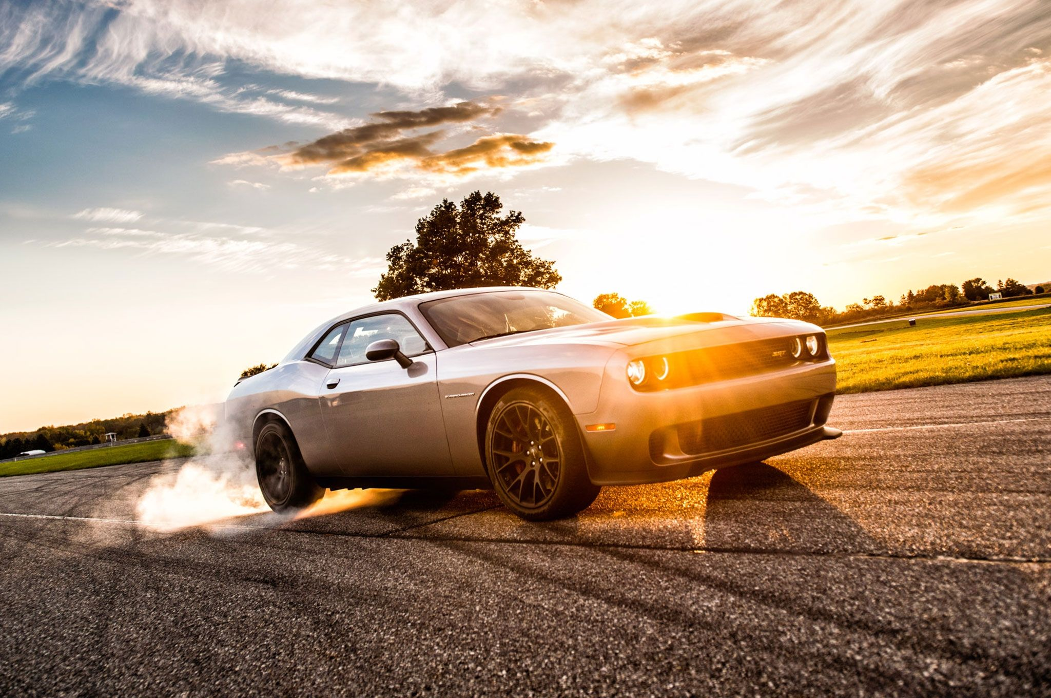 How do you do a massive burnout in a 2015 dodge challenger srt hellcat