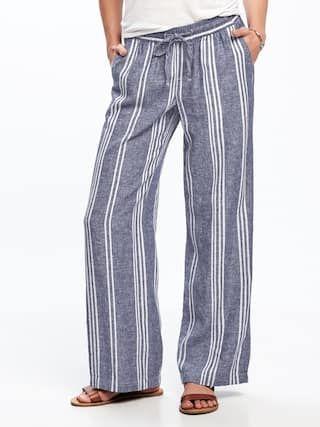 accf578d522c Wide-Leg Linen-Blend Pants for Women | Old Navy | S H O P :: Travel ...