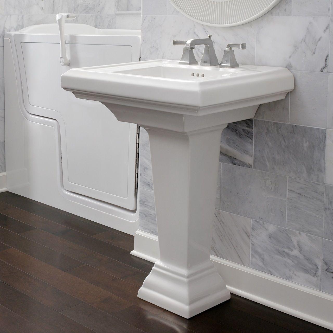 Bathroom Sinks Town Square 27 Inch Pedestal Sink White Sink