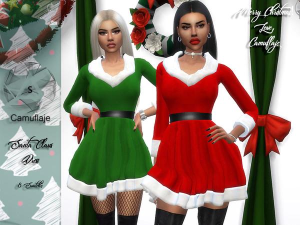 Camuflaje Santa Claus Sims 4 clothing, Sims 4 studio