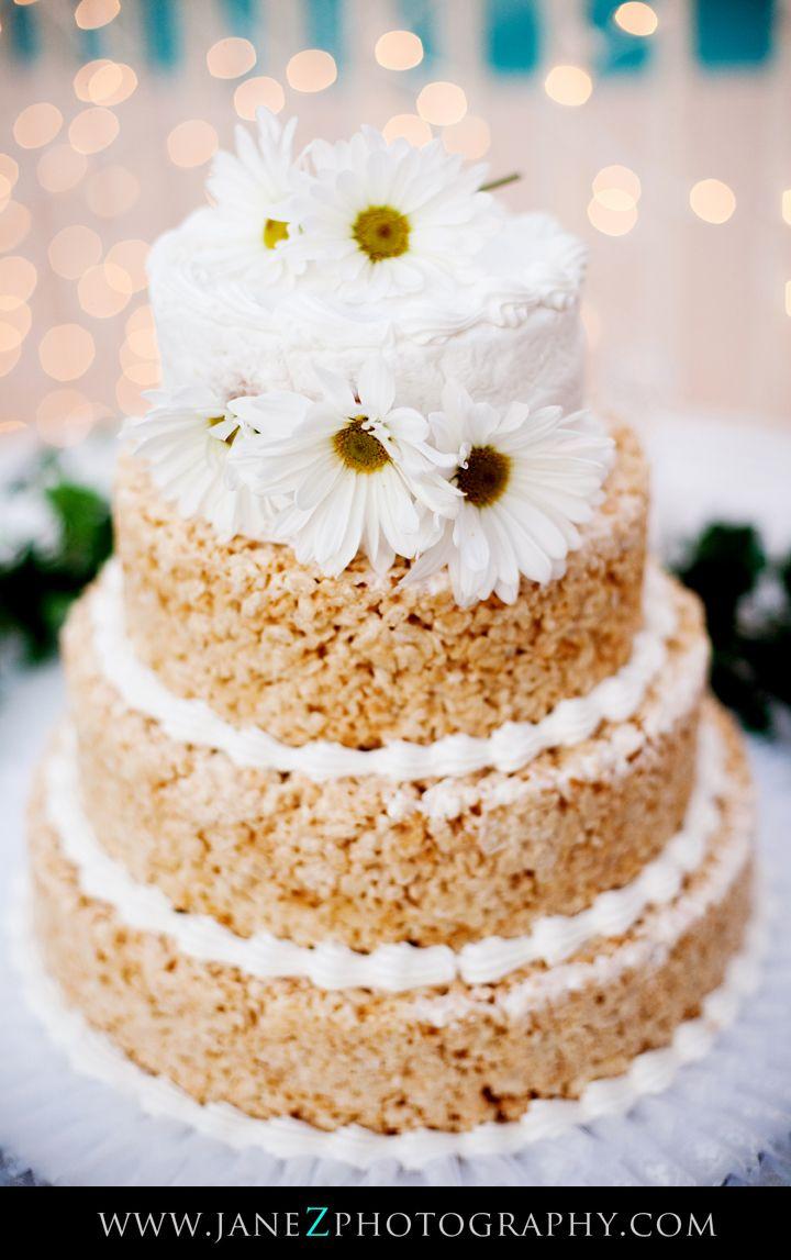 Wedding Cake Rice Crispie Treat With Images Wedding Desserts