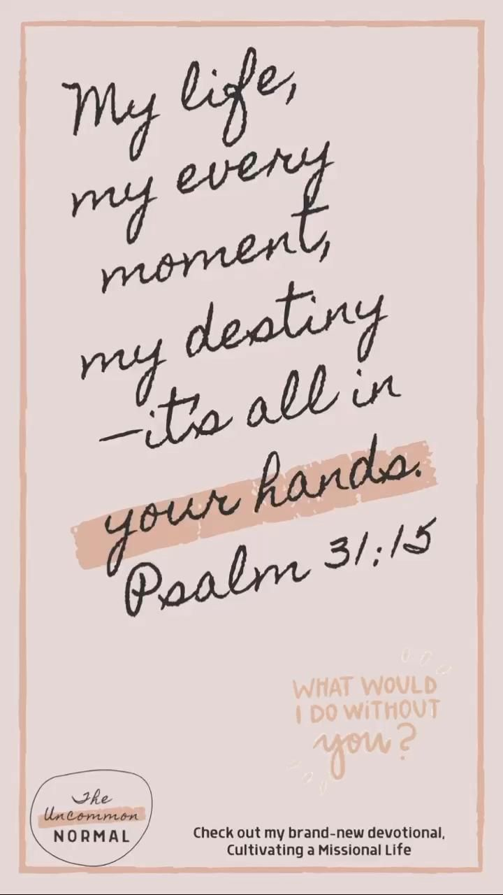 Thankful for you, Lord