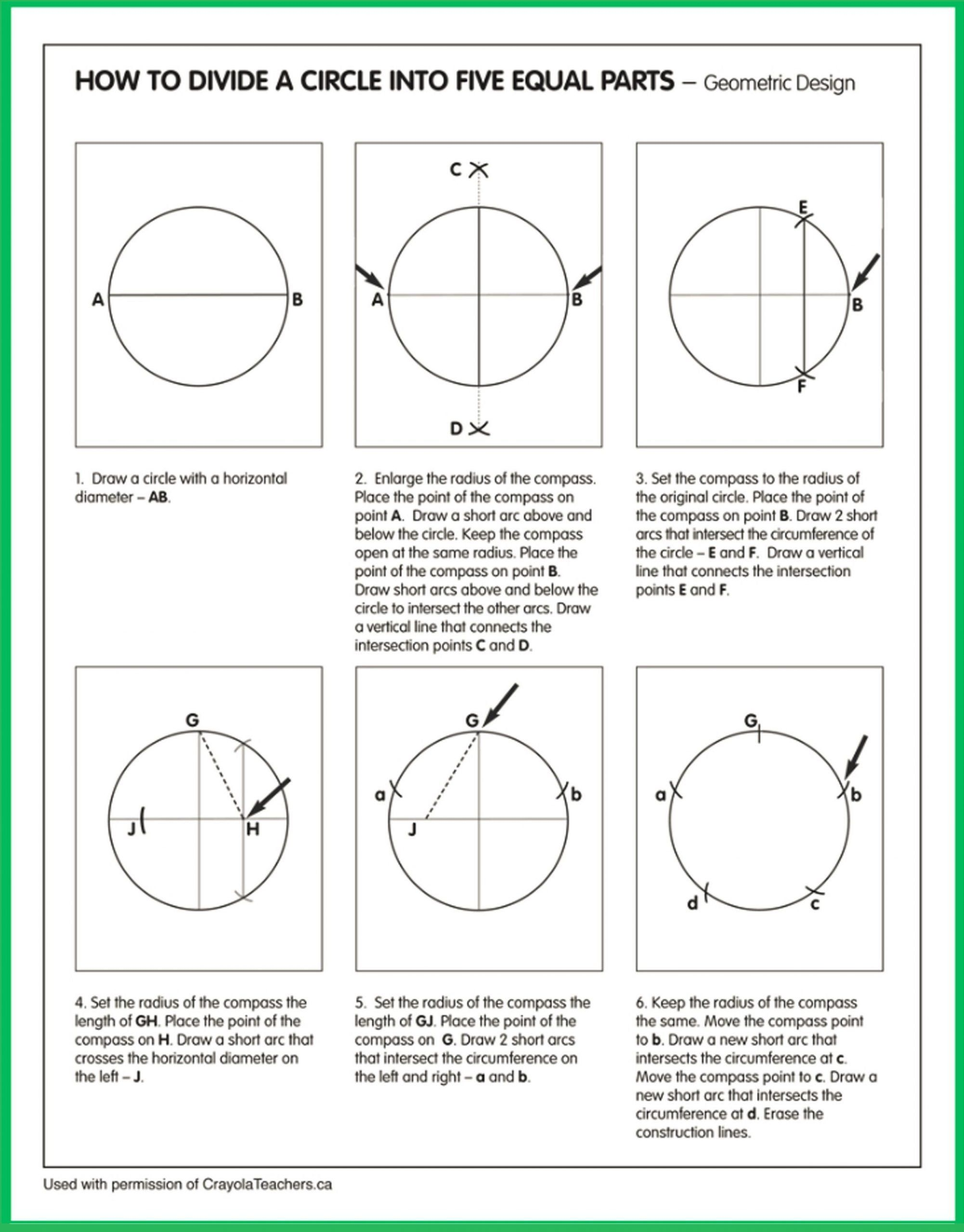 Parts Of A Circle Worksheet Art Worksheets In