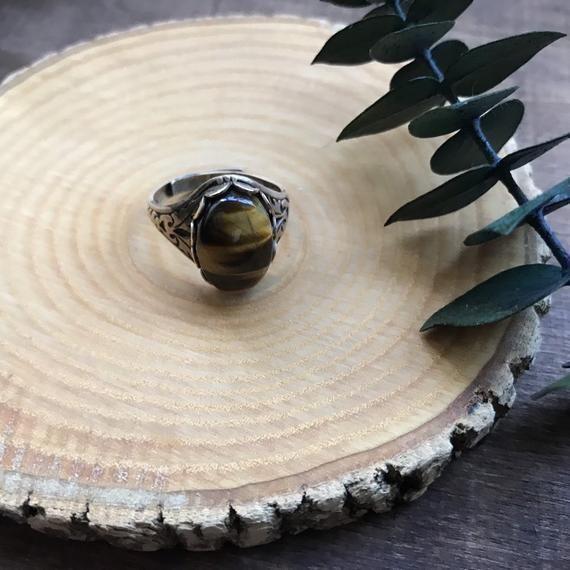 Photo of Bronze Tigers Eye Ring, Boho Gemstone Ring, Healing Stone Jewelry,  #boho #Bronze #Eye #Forbr…