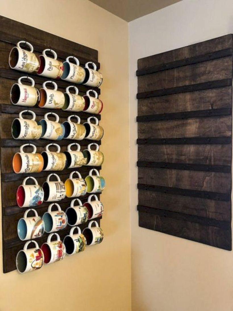 49 Cheap Diy Coffee Mug Holders You Can Easily Make Godiygo Com Coffee Mug Display Coffee Mug Holder Coffee Cup Rack