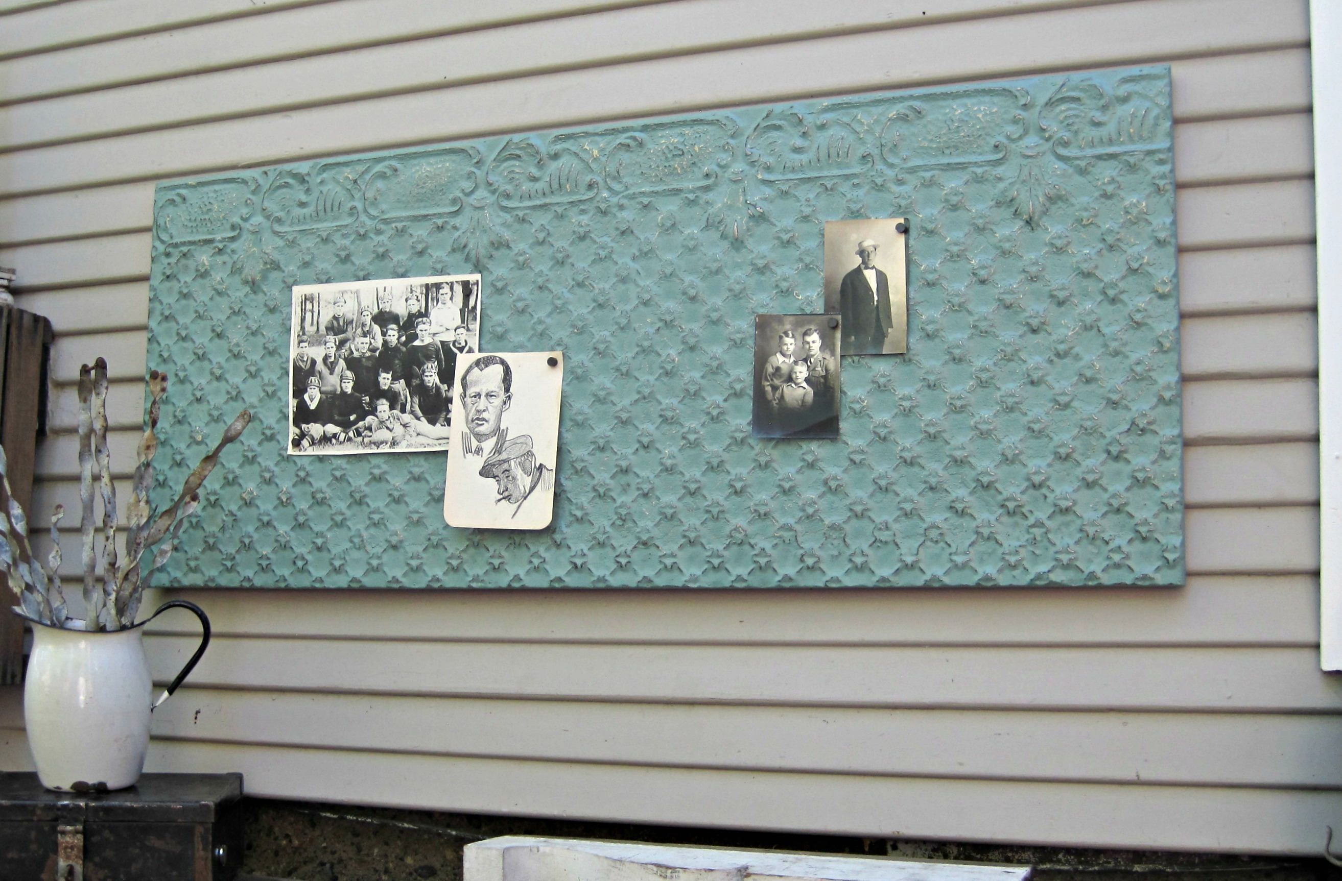 Antique tin ceiling tile framed refinished and ready to hang antique tin ceiling tile framed refinished and ready to hang all antique ceiling doublecrazyfo Choice Image