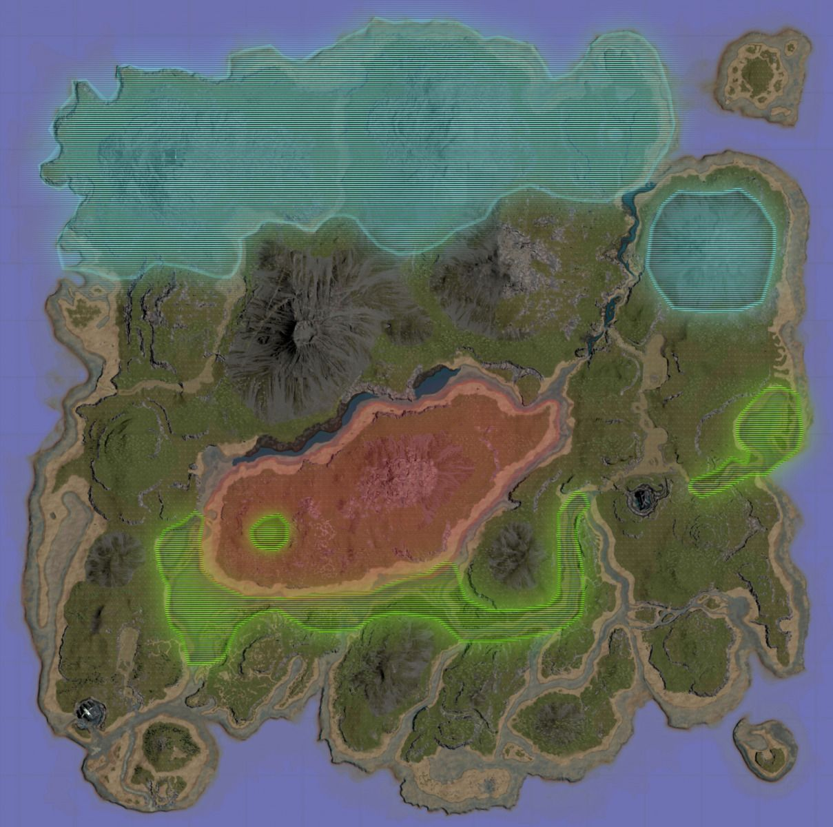Ark Survival Evolved A Map Of The Upcoming Map Extensions Coming With Ark Survival Evolved Ark Survival Evolved Bases Ark