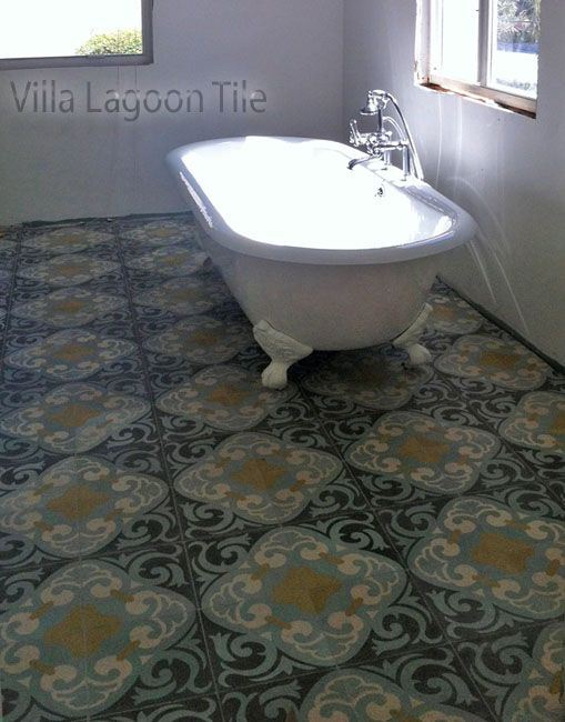 La Espanola Encaustic Cement Tile In A Romantic Bathroom In South
