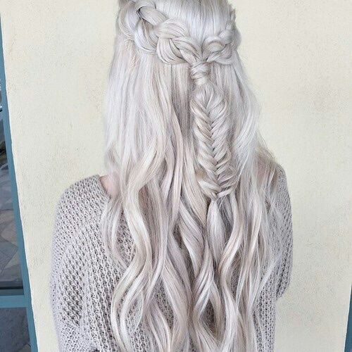Aesthetic Alternative Braid Braids Cold Cool Curly Hair