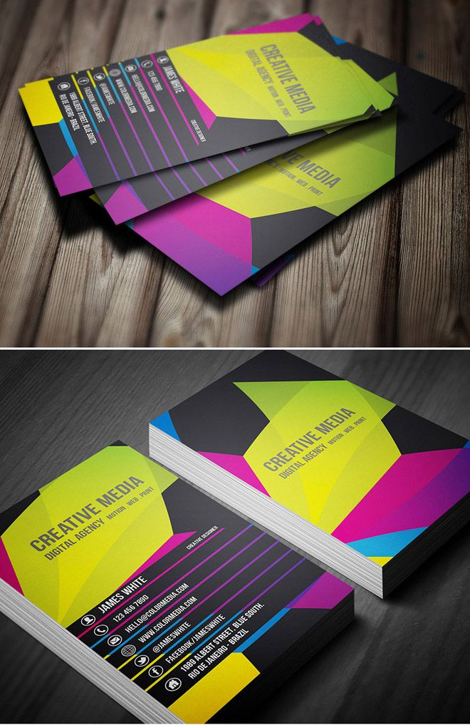 30 Colorful Business Card Design Examples for your inspiration ...