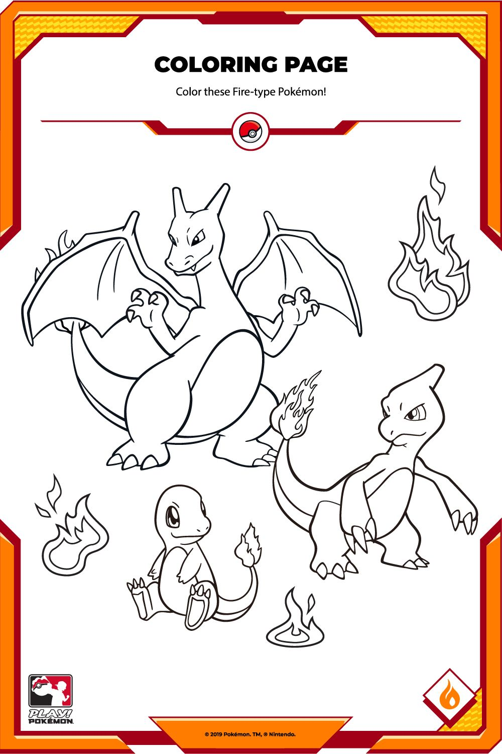 Color These Fire Type Pokemon Pokemon Fire Type Pokemon Pokemon Breeds