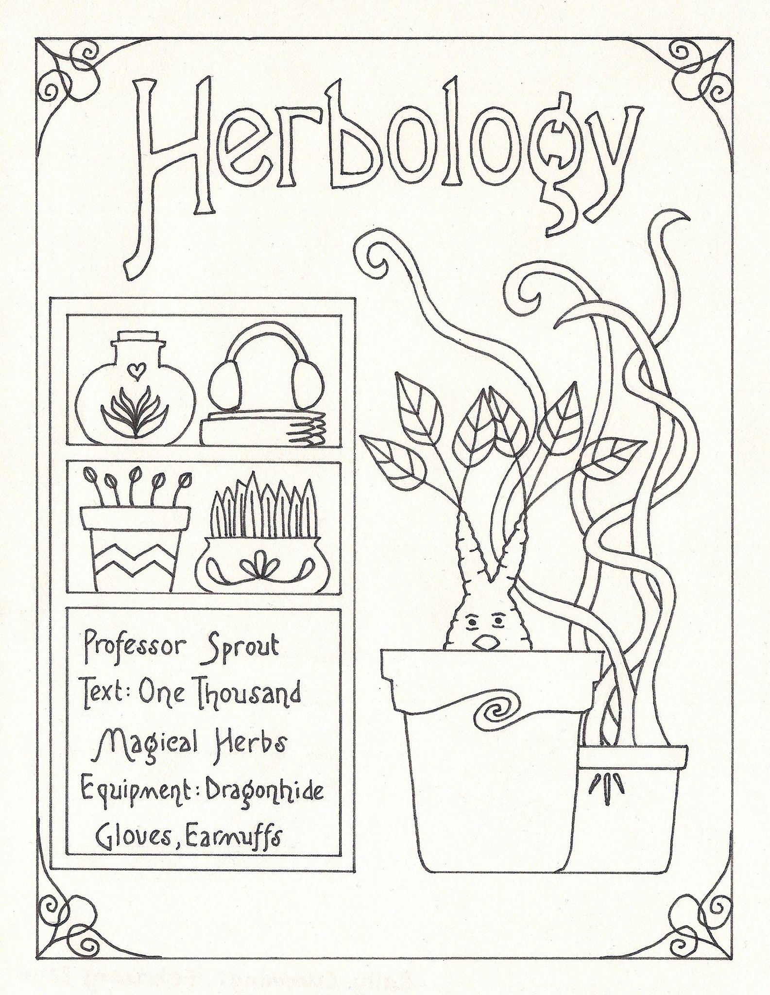 Harry Potter Subject Guide Art Nouveau Style