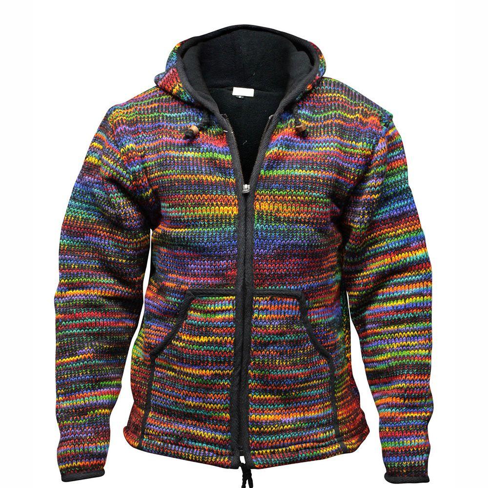 Pocket Standard Hooded Zipper Vintage Sweater Famefancy Com In 2020 Jackets Ties Mens Knitted Coat