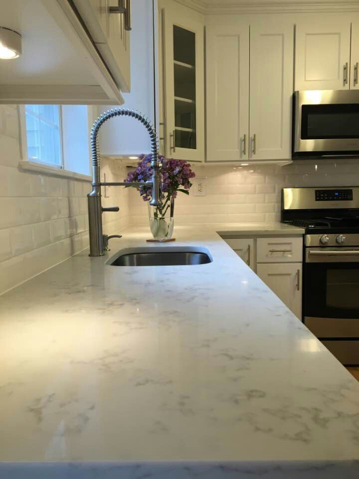 Carrera Grigio Quartz Kitchen Cabinet Remodel Kitchen