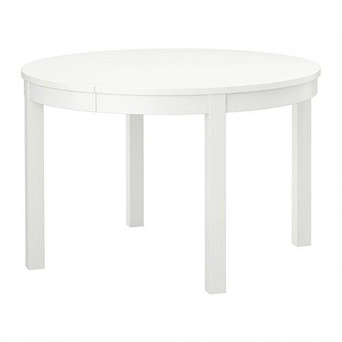 BJURSTA Extendable Table White Round hyeriders