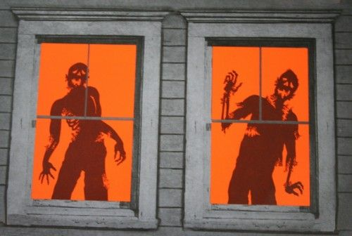 Silhouettes for the windows of house in Halloween CASA