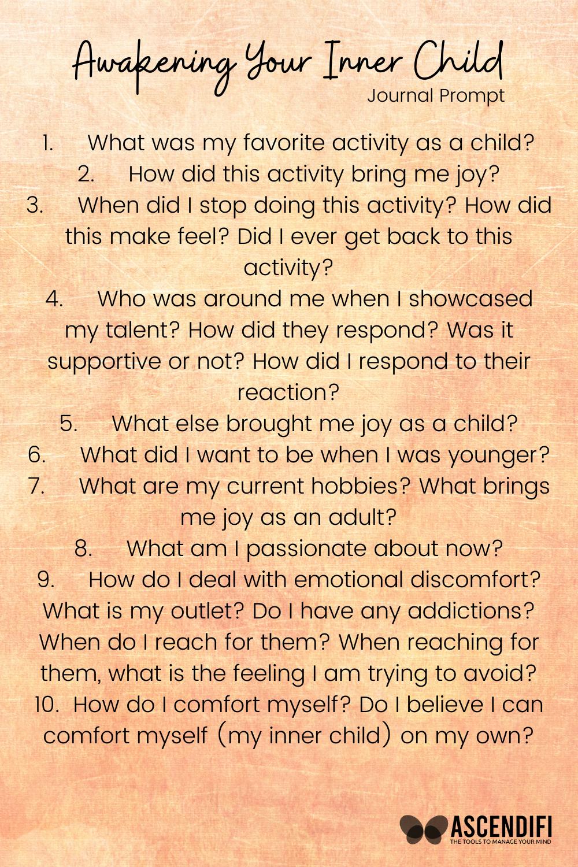 Inner Child Journal Prompt | Inner Child Healing