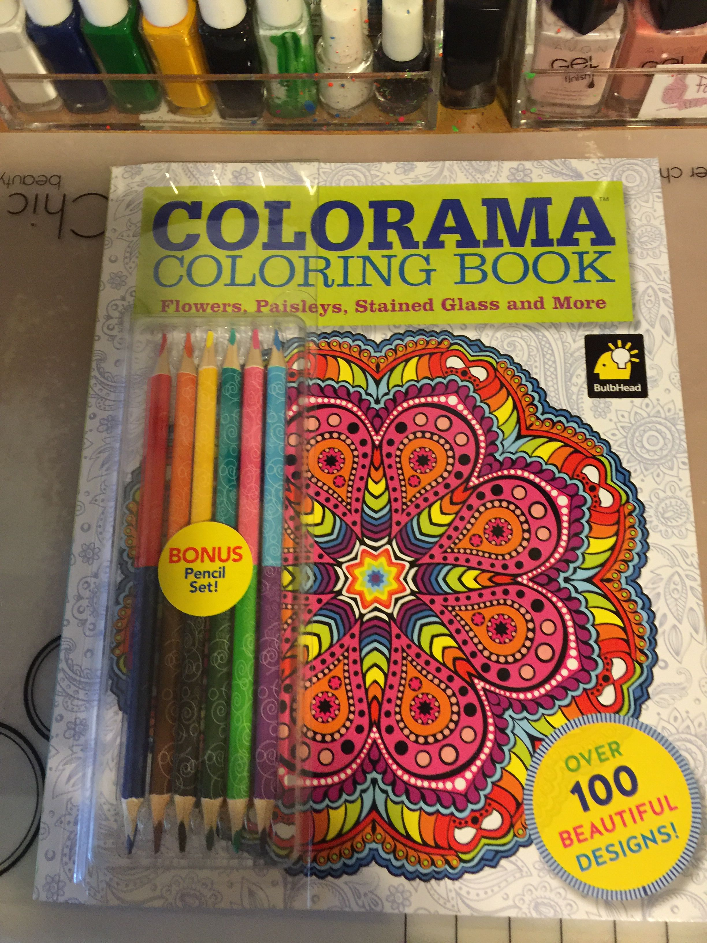Colorama Coloring Book Mandalas From Walmart I Got This For Christmas Book Flowers Coloring Books Coloring Book Art