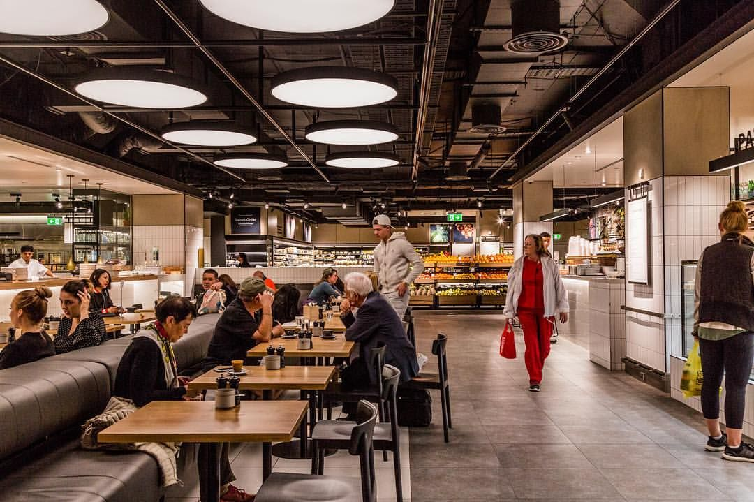 59 Likes 4 Comments Reinventing Normal Landiniassociates On Instagram Neil Perry Cafe Dj S Patisserie At Davidjonessto Food Hall Hall Furniture Hall