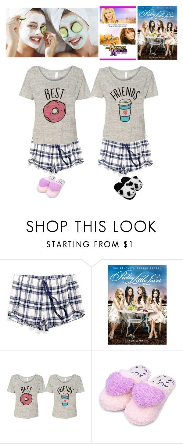 """""""Night in with bestie ❤️"""" by omg-gab ❤ liked on Polyvore featuring Tommy Hilfiger and TradeMark"""