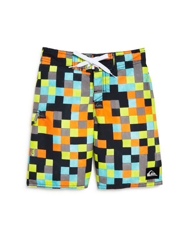 7d2cd97bc2 Quicksilver Boys' Logo Check Boardshorts - Sizes 4-7   Products ...