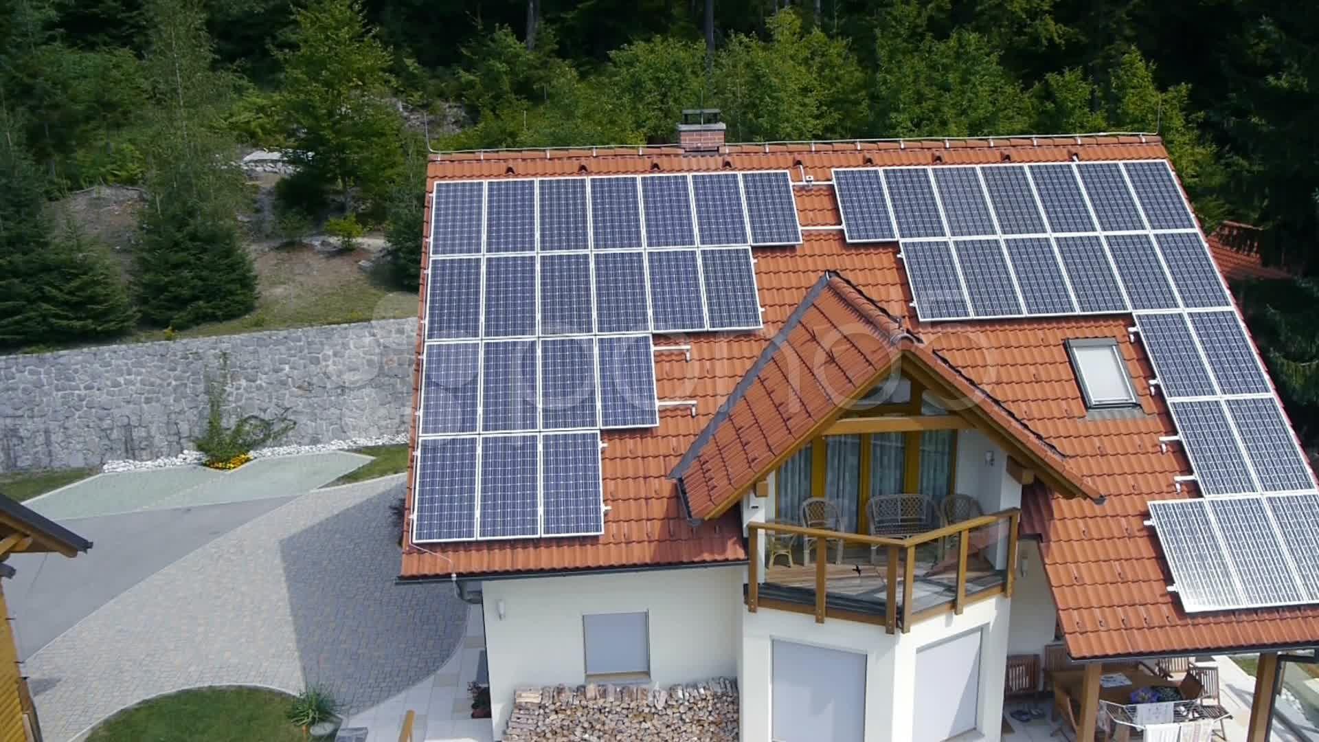 Solar Power Station On Roof Aerial Shot Stock Footage Station Roof Solar Power Solar Panels Free Solar Panels Solar