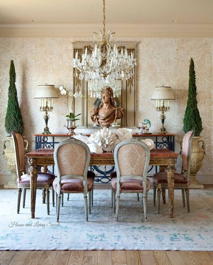 20 Country French Inspired Dining Room Ideas: Pin By Stephanie Hentges On Belles Chambres