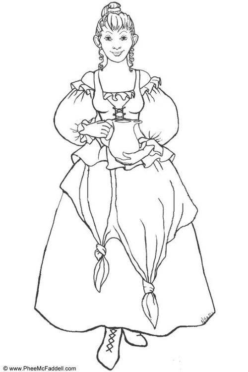 malvorlage frau with images  cartoon coloring pages