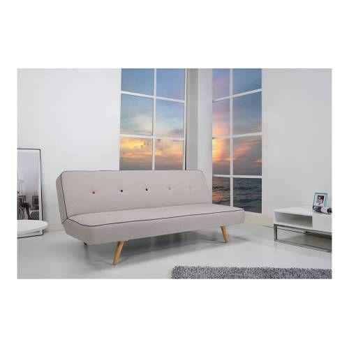 Sofa cama dsi tapizado en tela y poli ster con dos for Muebles de cocina walmart