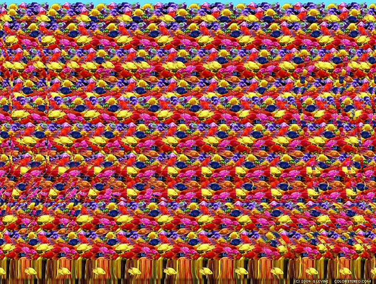 Color Stereo Hidden Image Stereogram Gallery Magic Eyes Magic Eye Pictures Hidden Images