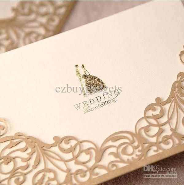 Seoproductname Pocket Wedding Invitations Gold Wedding