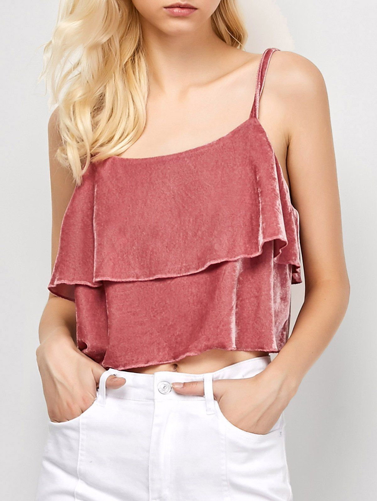 410421a987762d Layered Velvet Cami Top