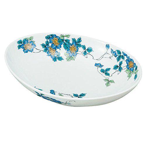 "Japanese drawn Ceramic Porcelain kutani ware. Dinnerware Serving bowl. Clematis."" Japanese ceramic Hagiyakiya K4-398 ** Check this awesome product by going to the link at the image."