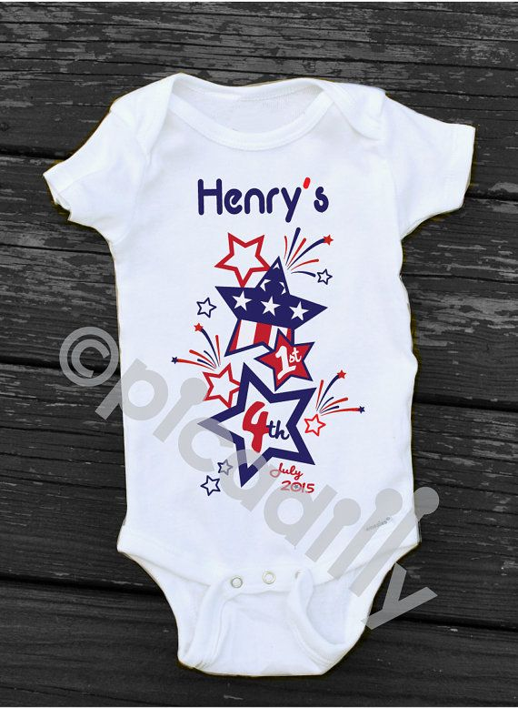 916569e23 Baby Boy My FIRST 4th of JULY Custom by PartyonPicadillylane Baby Outfits  Newborn, Baby Boy