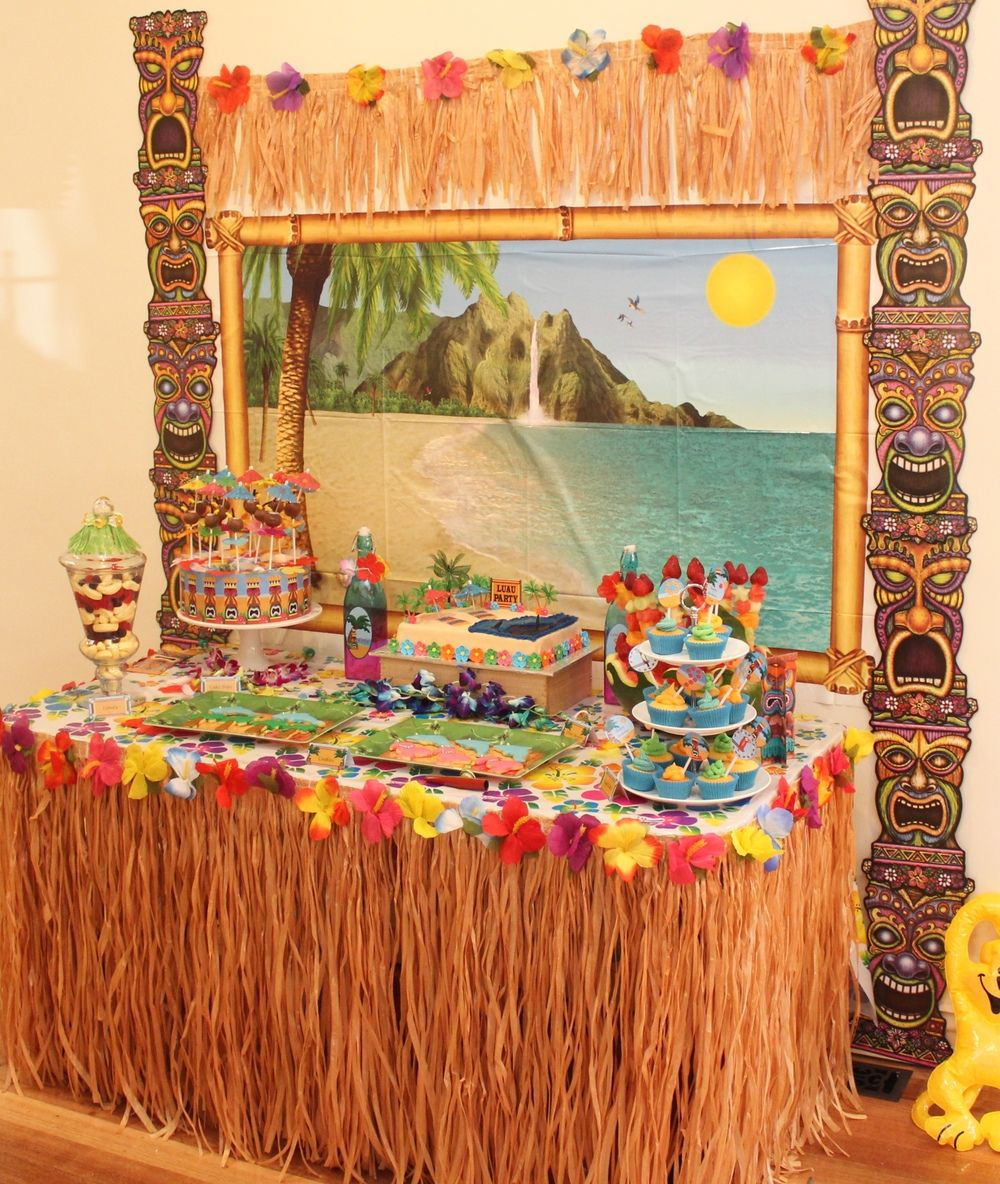 Hawaiian table decoration ideas best home design 2018 for Hawaiian decorations for home