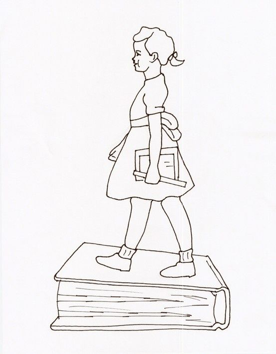 coloring sheet for black history month-ruby bridges | Ruby Bridges ...