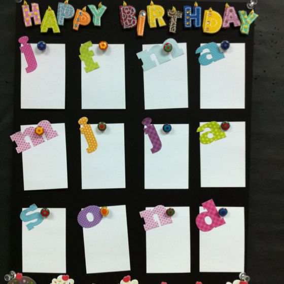 Happy Birthday Chart For My Classroom