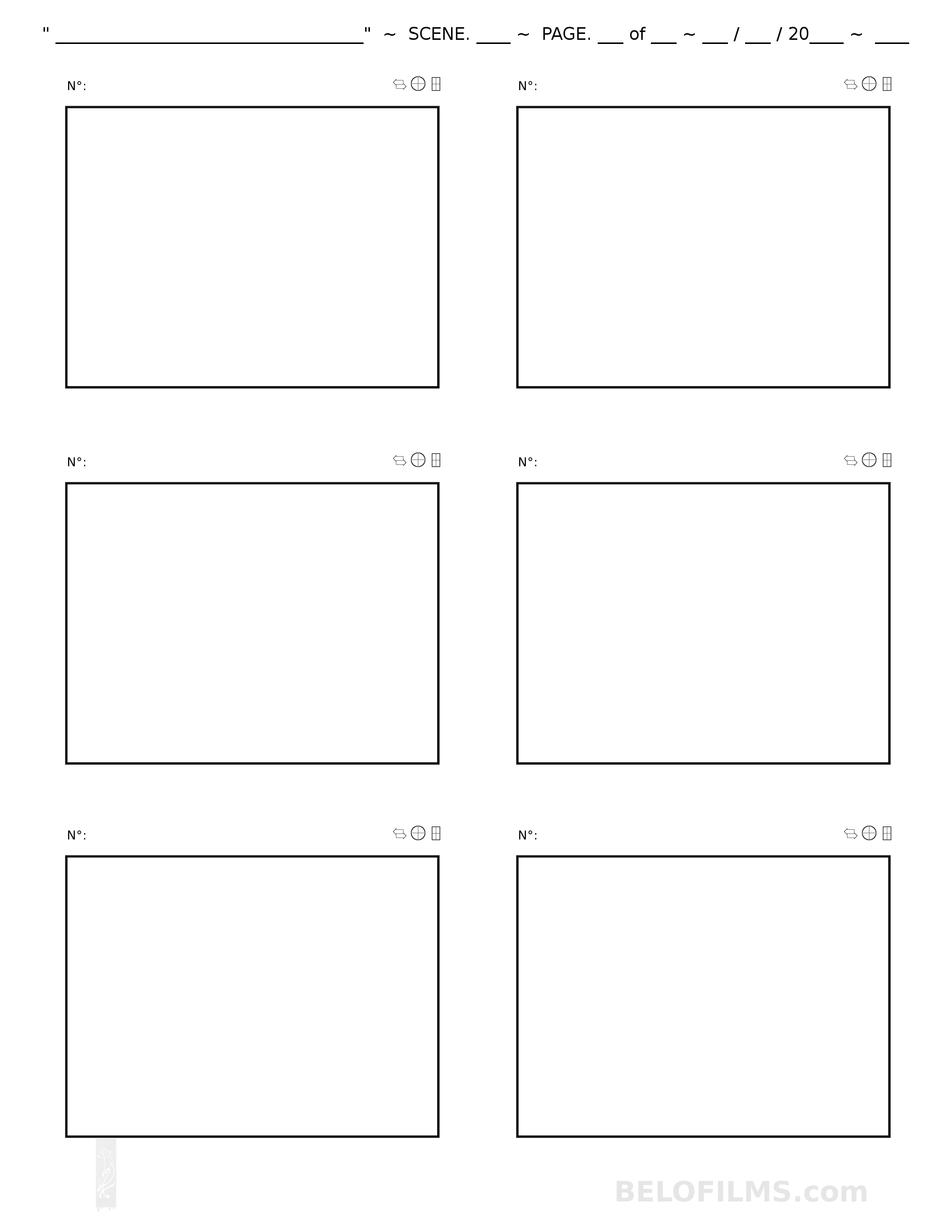 Storyboard And Animatic Templates Belofilms Elulu