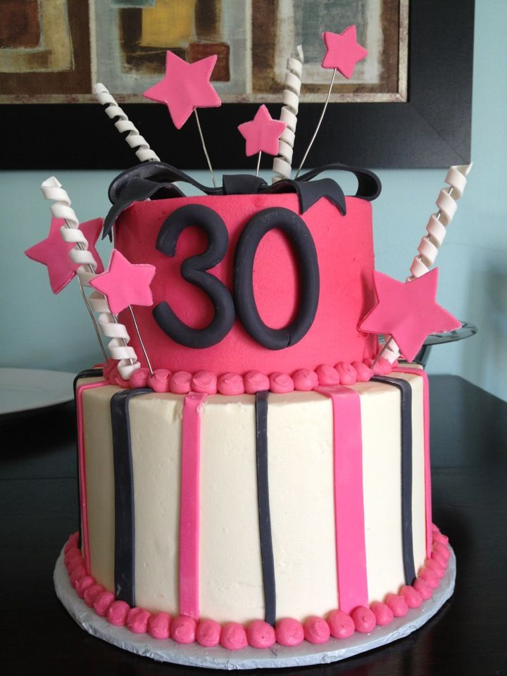 Fine 30Th Birthday Cake With Images 30 Birthday Cake Happy Birthday Cards Printable Opercafe Filternl