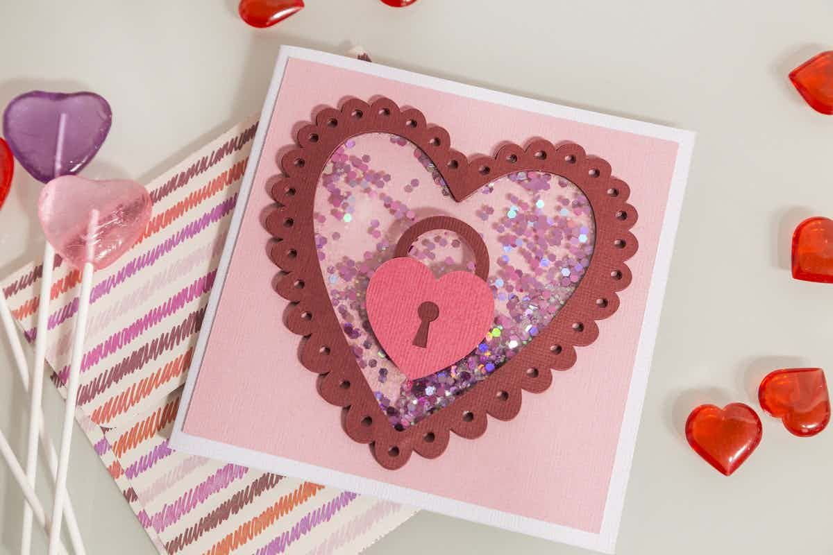 Key To My Heart Shaker Card Make It Now Card Making Cricut Cards Shaker Cards