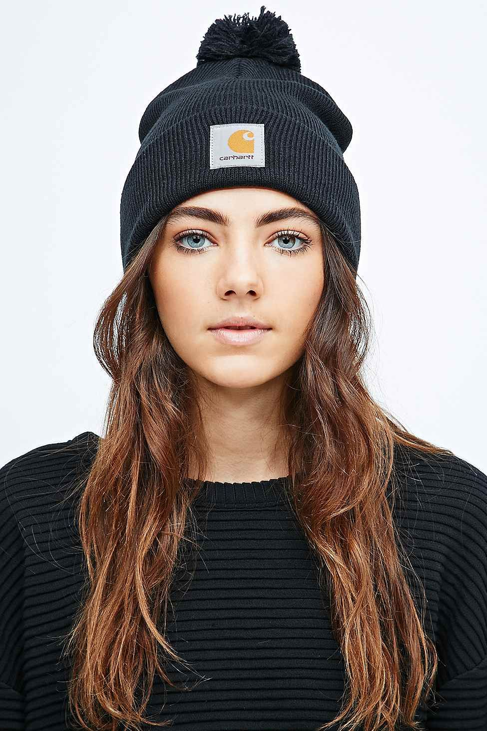 a8b00241330 Carhartt Bobble Watch Hat Beanie in Black - Urban Outfitters