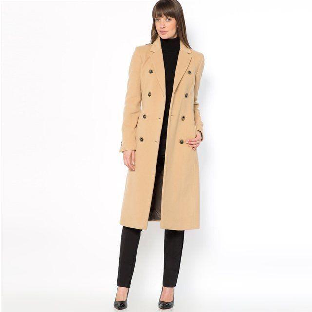 LAURA CLEMENT Manteau mi-long ceinturé en velours de laine