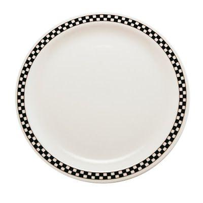 checkerboard dishes