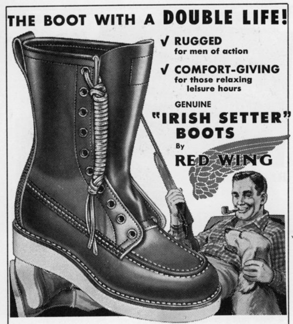 picture about Red Wing Boots Coupon Printable called Pink Wing Advert 1959 Up North Purple wing record