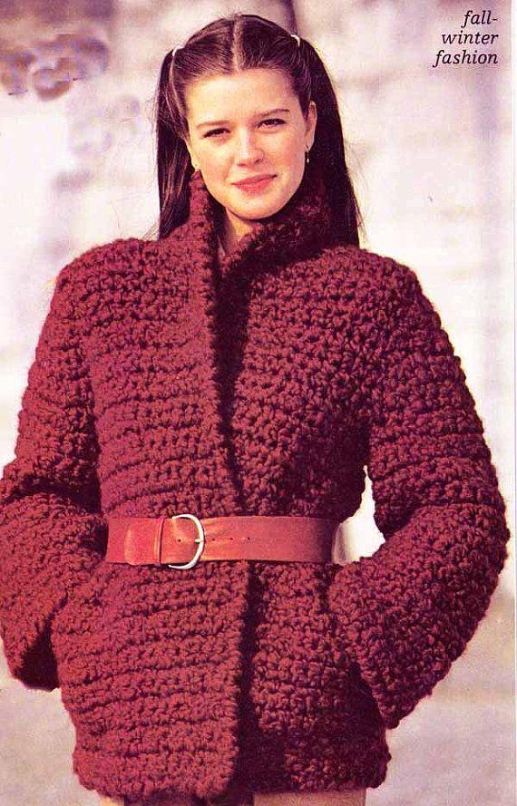 cc017da1ba 1970s/80s Chunky Kimono Jacket VINTAGE CROCHET by GrannyTakesATrip ...