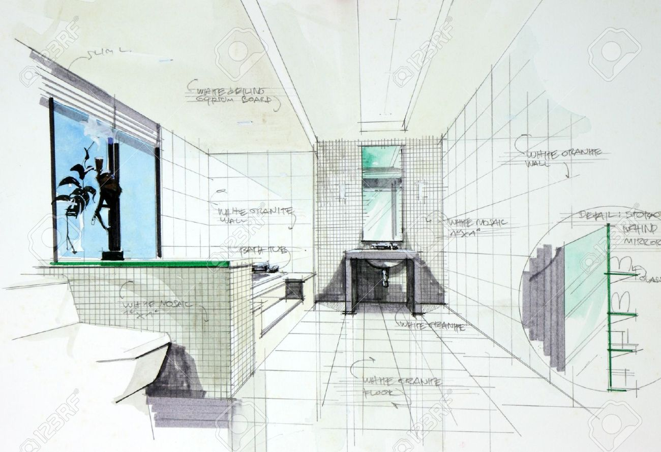 Interior Design Hand Renderings