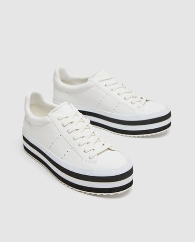 Tone Two Spain WomanZara Sneakers Shoes Platform TFKc31ulJ