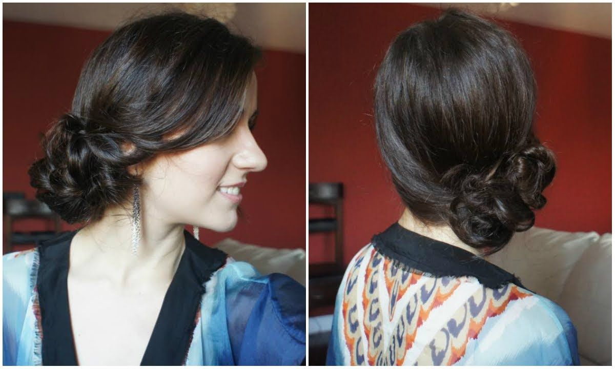 romantic side bun tutorial for medium to long hair | hair ideas